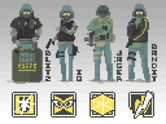 GSG-9 Pixels This artwork is belong to NotFuji,please rate it in Steam
