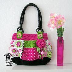 Patchwork crochet bag by Vendula Maderska / VendulkaM (scheduled via http://www.tailwindapp.com?utm_source=pinterest&utm_medium=twpin)
