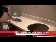 ▶ Countertop Prep: How to paint countertops - YouTube- I am going to paint mine white. I love white bathrooms.