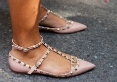 Studded little Valentino flats