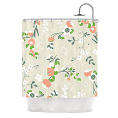 Early Waking by Very Sarie Floral Shower Curtain