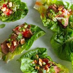 Seared Steak Lettuce Cups  Recipe