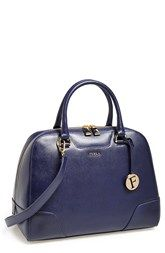 Furla 'Dolly - Medium' Calfskin Leather Satchel