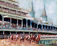 Kentucky Derby Painting  - Kentucky Derby Fine Art Print