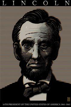 Lincoln by Milton Glaser Graphic Design Posters, Graphic Design Typography, Graphic Art, World Trade Center, Seymour Chwast, Bob Dylan Poster, Brooklyn Brewery, Milton Glaser, Designer Handbags On Sale