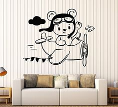 Vinyl Wall Decal Little Teddy Bear Aviator Plane Children... https://www.amazon.com/dp/B06XK4Y9MS/ref=cm_sw_r_pi_awdb_x_YQRVzbJAFH3XZ
