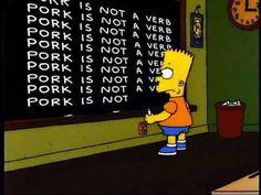 Oh Bart...
