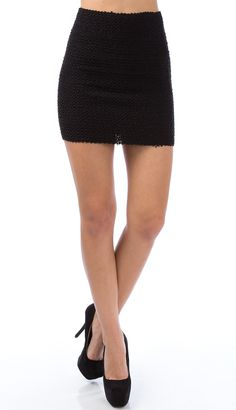 <p>Beaded Stretchy Bandage Skirt</p> <p> </p> <p>Details:<br />-Poly,Span<br />-Hand Wash Only<br />-Imported </p> $29.99
