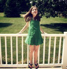 green plain apron  girls small/medium/large by jordandene on Etsy, $29.00