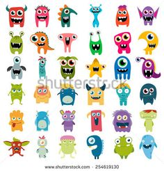 Find Big Vector Set Cartoon Cute Monsters stock images in HD and millions of other royalty-free stock photos, illustrations and vectors in the Shutterstock collection. Thousands of new, high-quality pictures added every day. Doodle Monster, Monster Art, Monster Drawing, Mini Monster, Monster Design, Cute Monsters Drawings, Funny Monsters, Cartoon Monsters, Cute Drawings