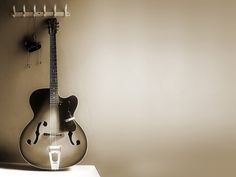 Black Music White Old Wall Guitars Desktop And Mobile Wallpaper
