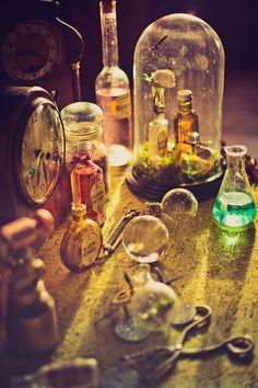Victorian Steampunk wedding inspo - chemistry