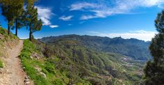 Hiking path in Artenara, Gran Canaria