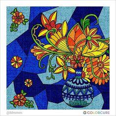 #flower #beautiful #art #artwork #artist #colorful #wallpainting #vase #sun #decoration #wedding #spring #butterfly #colorcure #adultcoloringbooks #비밀의정원컬러링북 #색칠공부 #색칠놀이 #어른색칠 #색칠스타그램 #painting #sketch #healing #therapy