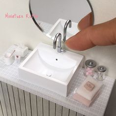 Miniature bathroom basin #miniaturebathroom