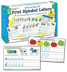 Print alphabet letters - wipe off boards