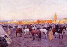 Encampment near a Moroccan Village - Theo van Rysselberghe - The Athenaeum