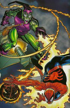 Spiderman vs. Green Goblin by John Romita, Jr.