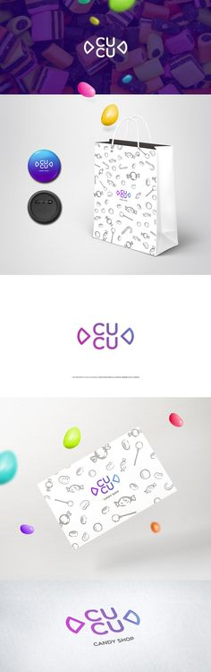 Logo design and the concept of a name for a candy shop.  more: www.logopond.com/gallery/detail/222157