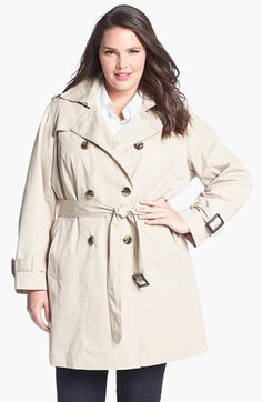 London Fog Heritage Trench with Detachable Liner (Plus Size) | Nordstrom