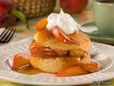 Peaches Foster Shortcake - Stock up on fresh peaches before they're gone! This 10-minute dessert recipe is perfect for summer.