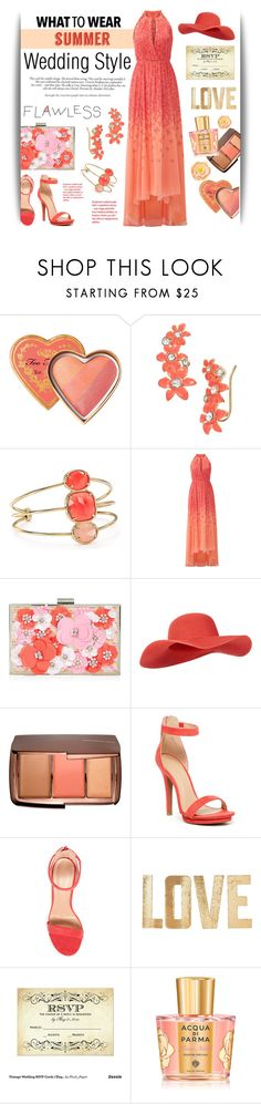 """""""Summer Wedding Guest Style"""" by www-haute-hot-trends-com on Polyvore featuring Kate Spade, Badgley Mischka, New Look, Accessorize, Hourglass Cosmetics, PBteen, Acqua di Parma, Victoria Beckham, Summer and wedding"""