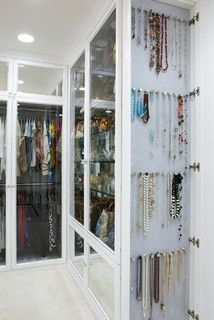 The Antiqued Mirror Boutique - contemporary - closet - los angeles - by Lisa Adams, LA Closet Design