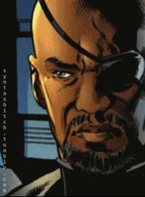 comic version to film version - Nick Fury agent of shield #Marvel #avengers #Vengadores  Pin and follow @Pyra2elcapo