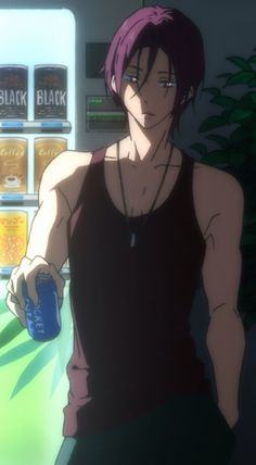 Free! Iwatobi Swim Club Rin Matsuoka Yea', I watch this anime for the plot..:D