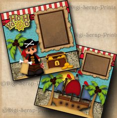 Disney Scrapbook, Baby Scrapbook, Scrapbook Page Layouts, Scrapbook Pages, Paper Punch, Scrapbook Supplies, Paper Piecing, Digital Scrapbooking, Pirates