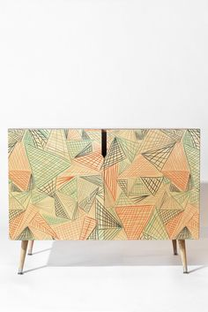 Jenean Morrison Gridlocked Multi Credenza | DENY Designs Home Accessories