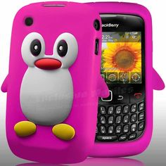 PENGUIN SILICONE CASE COVER & SCREEN PROTECTOR FOR BLACKBERRY CURVE 8520 9300 3G haha!!! love it!! something fun and different for the occasional day! =)