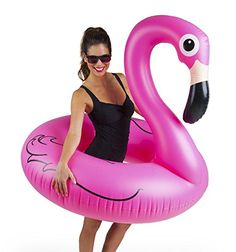 Pool Fun Giant Pink Flamingo Pool Float Over 4 Feet Wide Elegant And Graceful Yard, Garden & Outdoor Living
