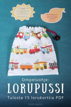 Ompeluohje: LORUPUSSI + Tulosta 15 lorukorttia PDF Story Sack, Baby Play, Pre School, Children, Kids, Diy And Crafts, Alphabet, Literature, Teaching