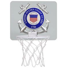 U.S.Coast Guard Mini Basketball Goals Mini Basketball Backboard $21.95 #stanrail -Practice your shooting game in the office or in the comfort of your dorm room with a custom mini basketball hoop! Featuring a glossy hardboard backboard, your designs, images, and text, will be printed in full color with vibrant, fade-resistant ink. #stanrails_store