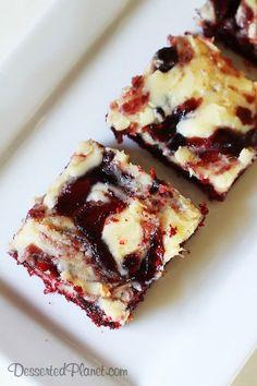 Red Velvet Blueberry Ooey Gooey Butter Cake
