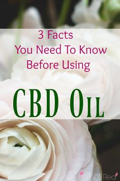 3 Facts You Need To Know Before Using CBD