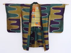 Silk Ripples Haori. Early-mid 20th-century meisen.