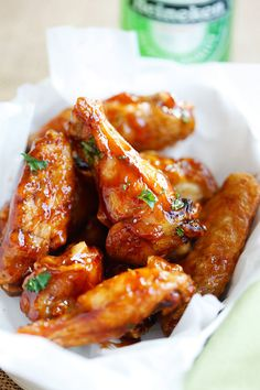 Honey BBQ Chicken Wings - Rasa Malaysia