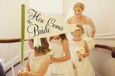 Custom Wedding Sign - Large Here Comes The Bride Wedding Graphics Signage Custom Design Ring Bearer Banner Flower Girl Sign Ritzy Rose 1229