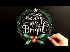キットパスでチョークアート、大人黒板なクリスマス(chalkart :DIY)