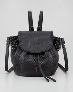 b51ed0b2bd Christian Louboutin Dompteuse Spiked Backpack Bucket Bag