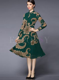 Shop for high quality Print A-Line Chiffon Dress online at cheap prices and discover fashion at Ezpopsy.com