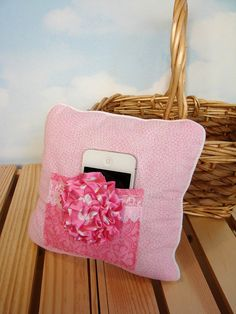 Pink Tooth Fairy Pillow Teen Pillow iPod holder by ToothFairyWorks, $15.00