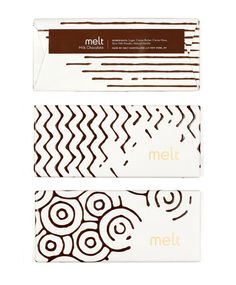 """""""Packaging and logo design for a gourmet chocolate shop. The classic characteristics of melted chocolate are used throughout, providing a tantalizing glimpse at the wonderfulness contained within."""""""