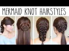 Easy Knotted Hairstyles - Mermaid Knot Braid Hair Tutorial - YouTube