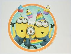 Despicable Me 2 Minions Birthday Edible Image Cake Topper Frosting Sheet -- Remarkable discounts available  : baking desserts recipes
