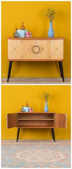 Vintage Kommode aus den 50er Jahren aus zweifarbigem Holz / vintage sideboard made of two tone wood made by Mid Century Friends via DaWanda.com