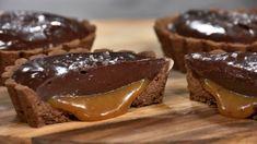Sjokolade- og karamellterte