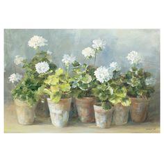 """24"""" x 36"""" White Geraniums Poster"""